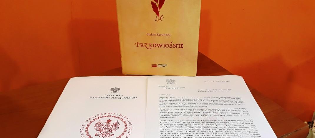 Podziękowania z kancelarii Prezydenta RP